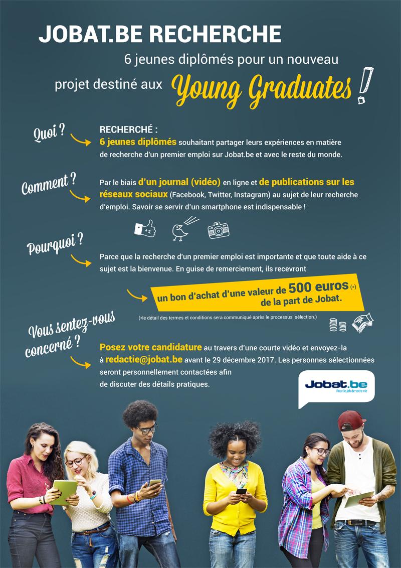 Jobat.be recherche 6 jeunes diplômés