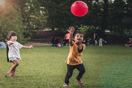 Kinderen met ballon