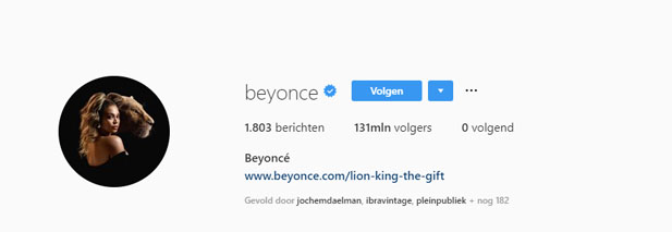 Instagram Beyoncé Knowles