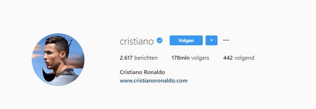 Instagram Cristiano Ronaldo