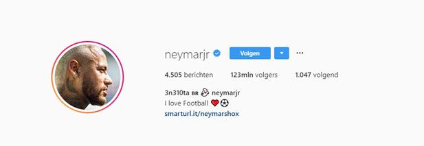 Instagram Neymar da Silva Santos Junior