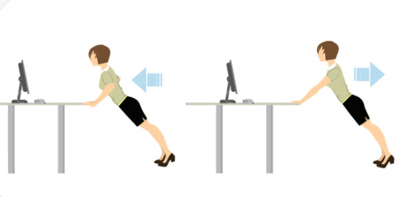 Desk push up