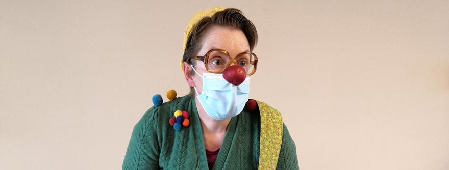 Sabrina Lenders als contactclown Moesjke