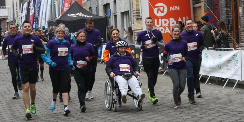 t-zorg neemt deel aan de Urban Trail in Gent