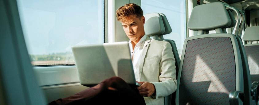 Werken op de trein
